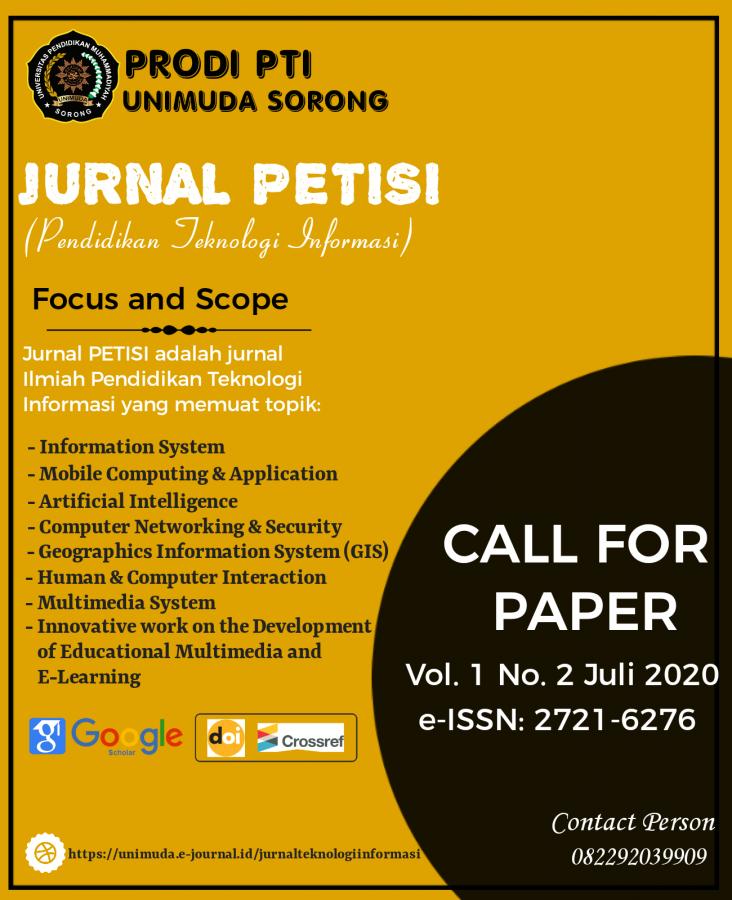 Jurnal PETISI (Pendidikan Teknologi Informasi)