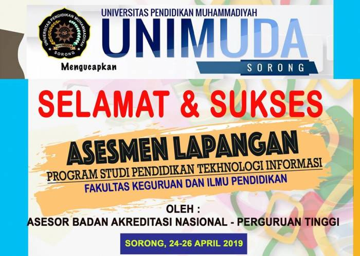 Prodi Pendidikan Teknologi Informasi FKIP UNIMUDA Sorong Siap Diakreditasi